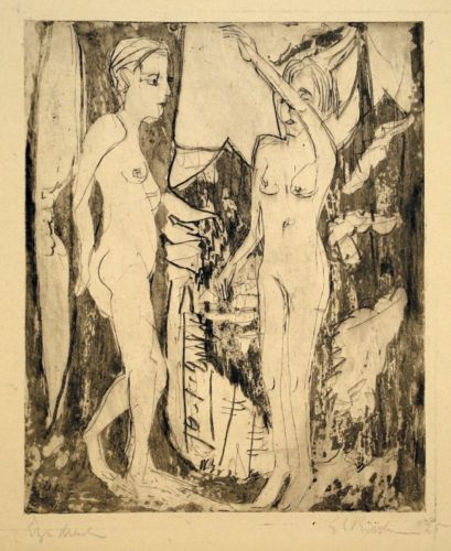 Two Standing Nudes by Ernst Ludwig Kirchner at Harris Schrank Fine Prints (IFPDA)