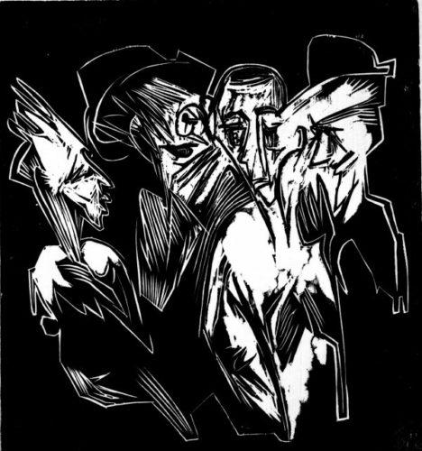 Absalom Und Seine Ratgeber by Ernst Ludwig Kirchner