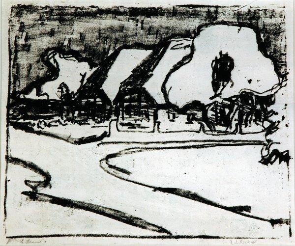 Fehmarndorf by Ernst Ludwig Kirchner