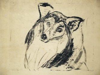 Hundekopf by Ernst Ludwig Kirchner at Galerie Henze & Ketterer & Triebold