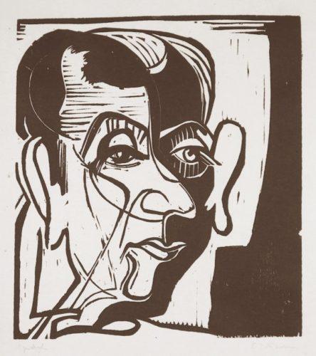 Kopf Hans Arp by Ernst Ludwig Kirchner