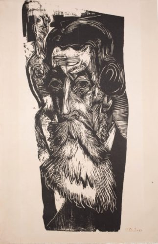 Kopf Ludwig Schames by Ernst Ludwig Kirchner