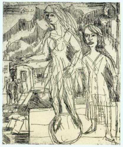 KugellÄuferin by Ernst Ludwig Kirchner