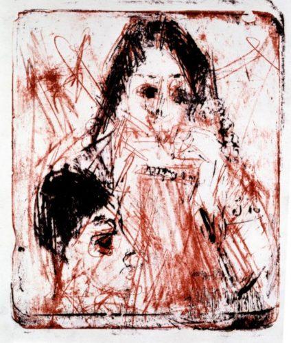 Mundharmonikaspielerin by Ernst Ludwig Kirchner at Galerie Henze & Ketterer & Triebold