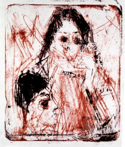 Mundharmonikaspielerin by Ernst Ludwig Kirchner
