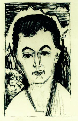 Portrait Nele Van De Velde by Ernst Ludwig Kirchner