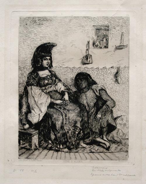 Juive D'alger (jewish Woman Of Algiers). by Eugène Delacroix