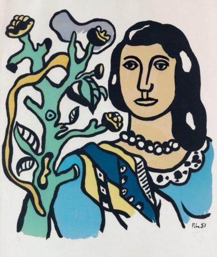 La Femme Et La Fleur by Fernand Leger