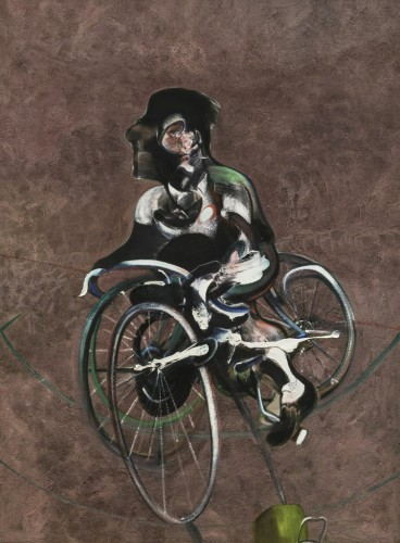 Portrait Of Georges Dyer Riding A Bicycle by Francis Bacon
