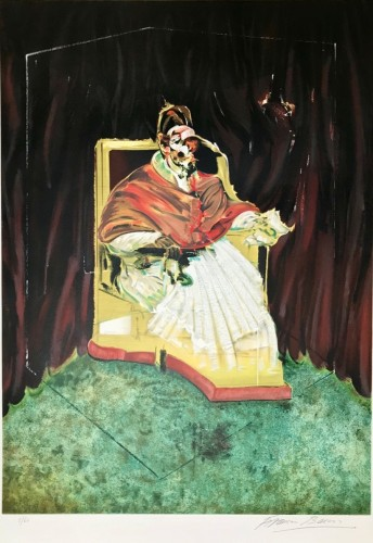 Study For Portrait Of Pope Innocent X After Velázq by Francis Bacon