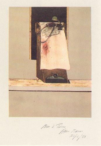 Taken From A Photograph Of Trotsky's Study In Mexi by Francis Bacon