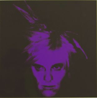 Fright Wig (purple) by Gavin Turk