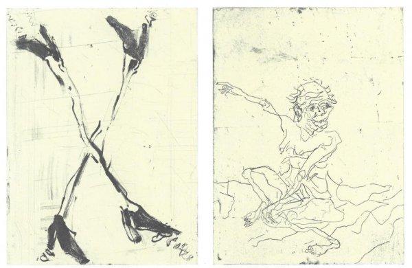 Besuch Von Hokusai Iii by Georg Baselitz at