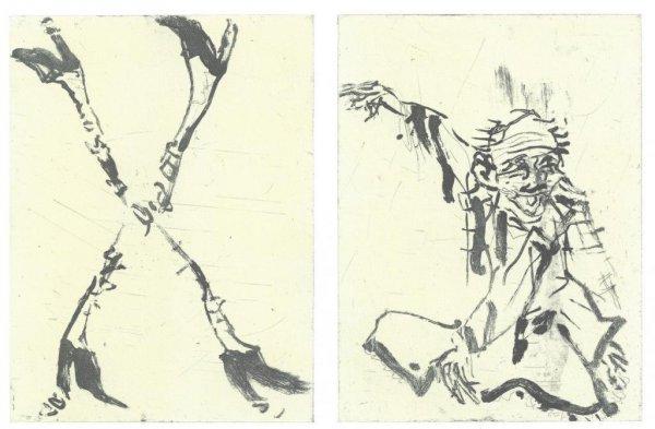 Besuch Von Hokusai Ii by Georg Baselitz at
