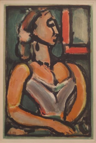 Femme Fiere From Les Fleurs Du Mal by Georges Rouault at