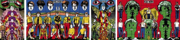 Death, Hope, Life, Fear by Gilbert & George