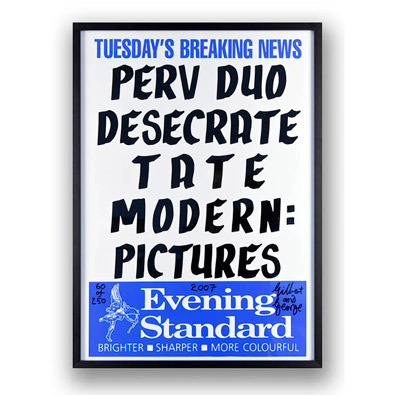 Perv Duo Desecrate Tate Modern: Pictures by Gilbert & George