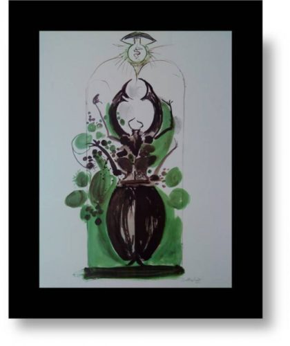 Beetle With Electric Lamp by Graham Sutherland at