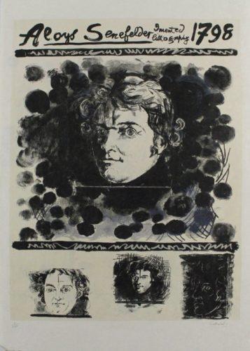 Portrait Of Aloys Senefelder by Graham Sutherland
