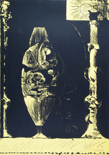 Standing Forms (yellow) by Graham Sutherland