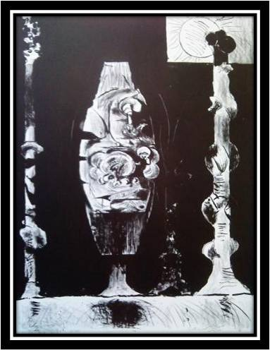 Standing Forms (black/white) by Graham Sutherland at