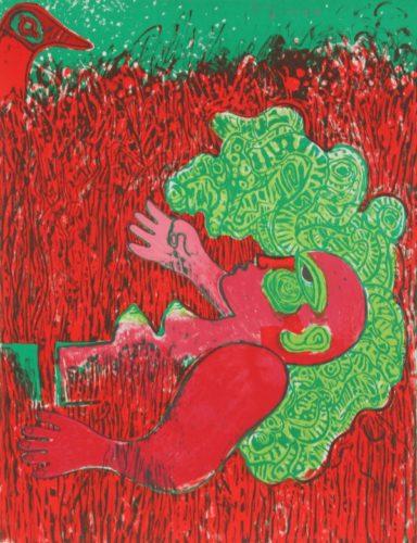 Dans L'infinie Verticalite De L'herbe La Femme by Guillaume Corneille
