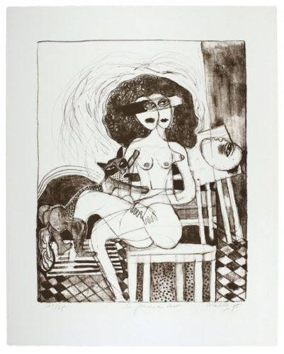 La Femme Au Chat by Guillaume Corneille at