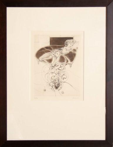 La Petite Fille Sur Canape Noir by Hans Bellmer