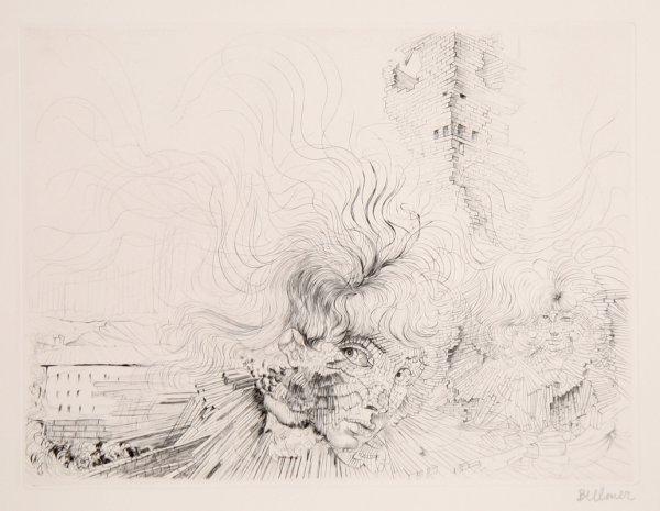 Les Milles En Feu by Hans Bellmer at