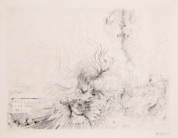 Les Milles En Feu by Hans Bellmer