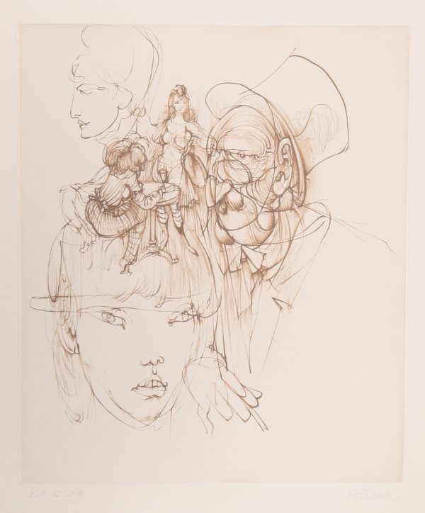 Untitled (from Alice In Wonderland) by Hans Bellmer