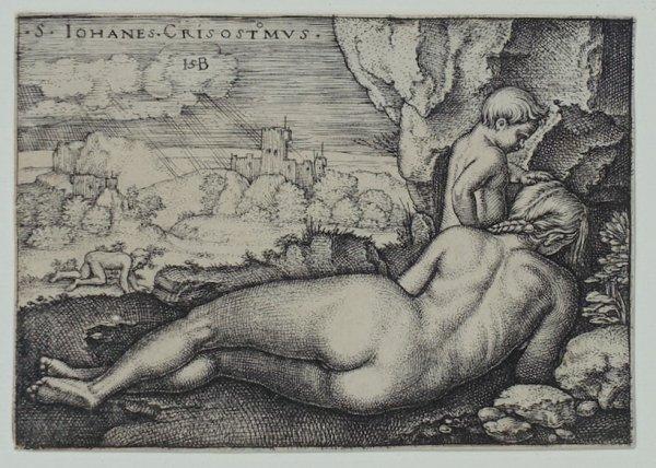 The Penance Of St. John Chrysostom by Hans Sebald Beham