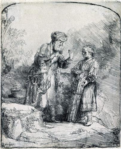 Abraham And Isaac by Harmensz van Rijn Rembrandt