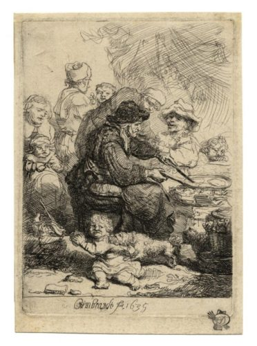 The Pancake Woman by Harmensz van Rijn Rembrandt