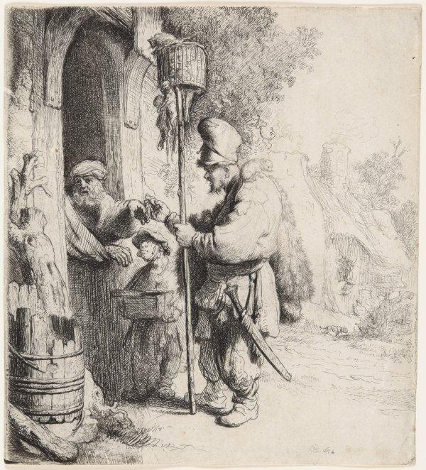 The Rat Catcher (the Rat Poison Peddler) by Harmensz van Rijn Rembrandt