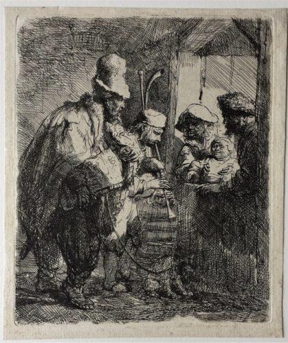The Strolling Musicians by Harmensz van Rijn Rembrandt