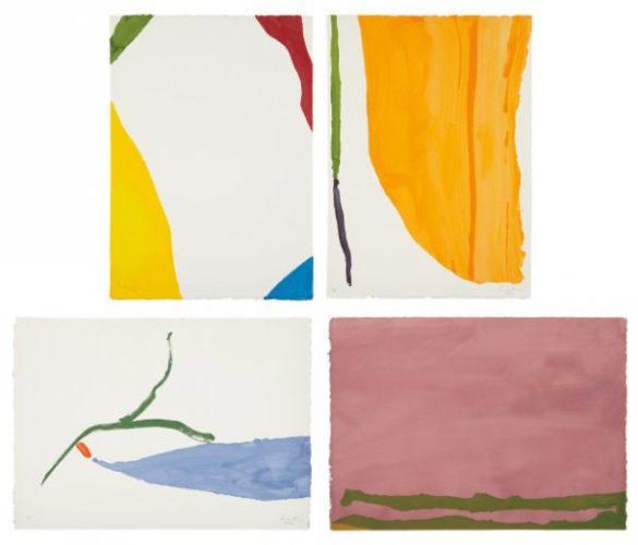 Four Pochoirs by Helen Frankenthaler at