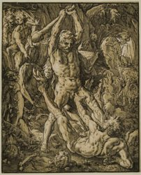 Hercules And Cacus by Hendrik Goltzius at Stanza del Borgo (IFPDA)