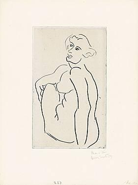 Nu Assis, Le Dos Vu De Trois-quarts by Henri Matisse