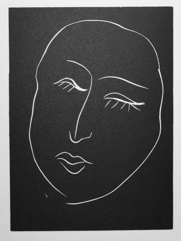 Tête De Femme. No 3. Dormeuse Aux Longs Cils. by Henri Matisse