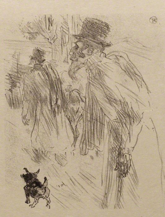 Au Pied Du Sinaï by Henri de Toulouse-Lautrec