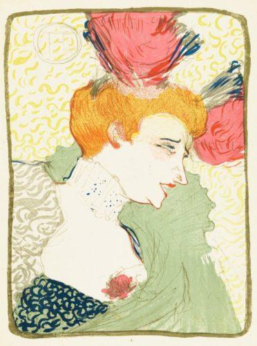 Mademoiselle Marcelle Lender, En Buste by Henri de Toulouse-Lautrec at