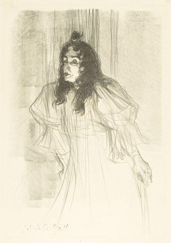 Miss May Belfort En Cheveux by Henri de Toulouse-Lautrec