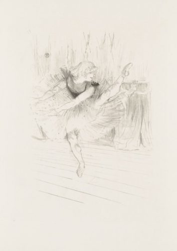 Miss Ida Heath, Danseuse Anglaise by Henri de Toulouse-Lautrec