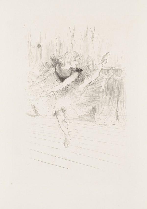 Miss Ida Heath, Danseuse Anglaise by Henri de Toulouse-Lautrec