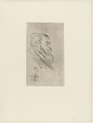 Portrait De Tristan Bernard by Henri de Toulouse-Lautrec at