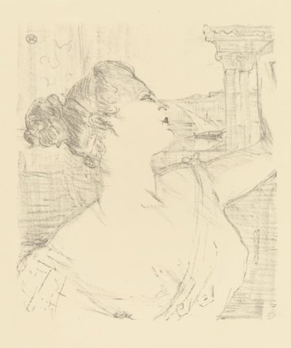 Sybil Sanderson by Henri de Toulouse-Lautrec at