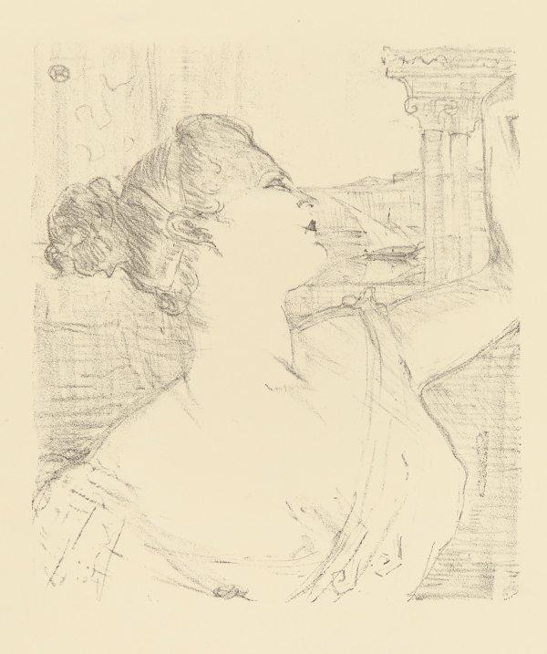 Sybil Sanderson by Henri de Toulouse-Lautrec