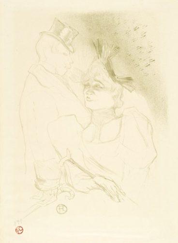 Mademoiselle Lender Et Baron by Henri de Toulouse-Lautrec at Henri de Toulouse-Lautrec