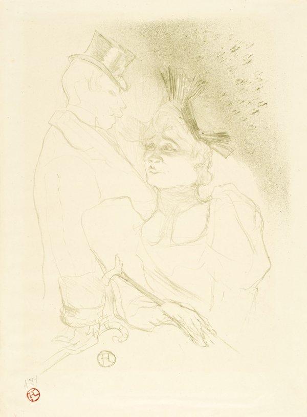 Mademoiselle Lender Et Baron by Henri de Toulouse-Lautrec